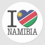 Namibia Pegatina Redonda