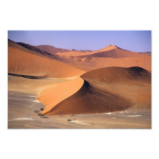 Namibia: Sossuvlei Dunes, Aerial scenic. Photo Print