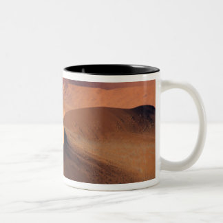 Namibia: Sossuvlei Dunes, Aerial scenic. Two-Tone Coffee Mug