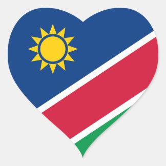 namibia heart sticker