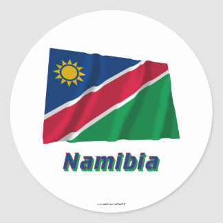 Namibia Waving Flag with Name Stickers