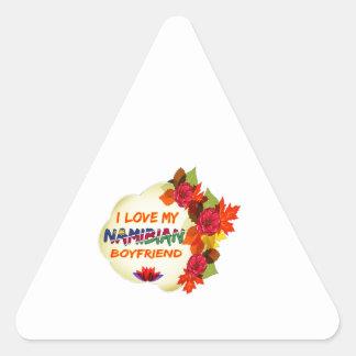 Namibian Boyfriend Design Triangle Sticker