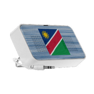Namibian Flag Floating on water Portable Speakers