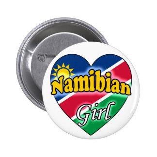Namibian Girl Pinback Button