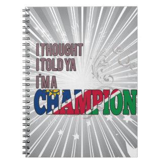 Namibiano y un campeón cuaderno