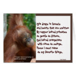Naming My Favorite Things wildlife notecards Card