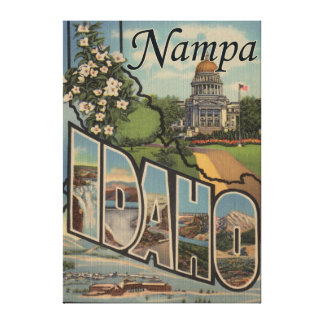Nampa, IdahoLarge Letter ScenesNampa, ID Canvas Print
