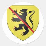 Namur Arms, Belgium Classic Round Sticker