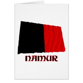 Namur Waving Flag with Name Card
