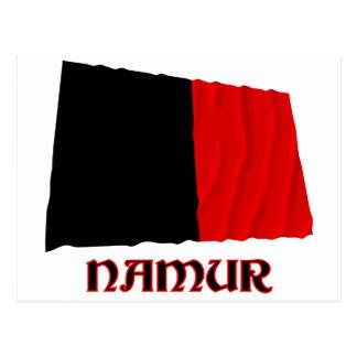Namur Waving Flag with Name Postcard
