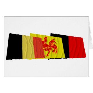 Namur Waving Flags Trio Card
