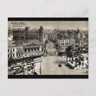 Namur's Gate Brussels Belgium Vintage 1932 postcard