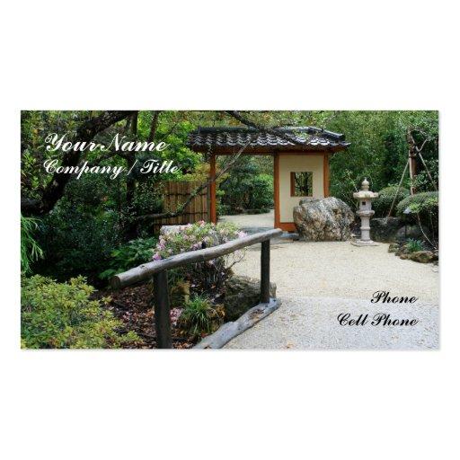 Nan-mon: Oriental Gardens Business Cards