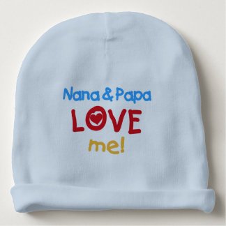 Nana and Papa Love Me Baby Beanie