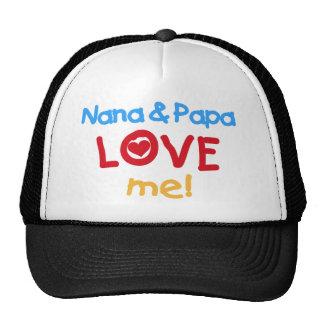 Nana and Papa Love Me Trucker Hat