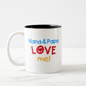 Nana and Papa Love Me mug