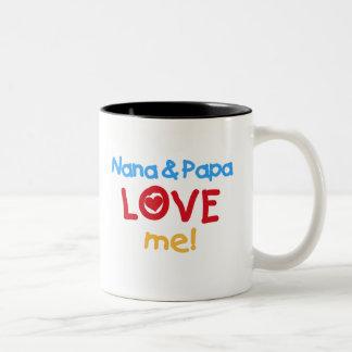 Nana and Papa Love Me Two-Tone Coffee Mug