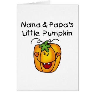 Nana and Papa s Little Pumpkin T-shirts Card