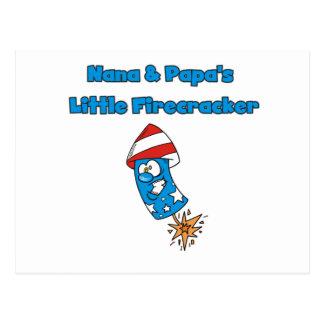 Nana and Papa's Little Firecracker Tshirts Postcard