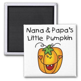 Nana and Papa's Little Pumpkin T-shirts Fridge Magnet