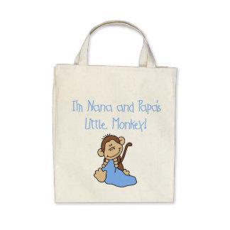 Nana and Papa's Monkey - Blue Tshirts and Gifts Canvas Bags