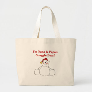 Nana and Papa's Snuggle Bear Canvas Bag