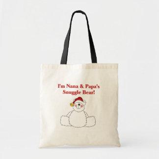 Nana and Papa's Snuggle Bear T-shirts and Gifts Tote Bags