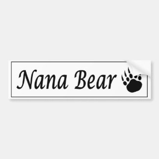 Nana Bear car sticker with bear claw
