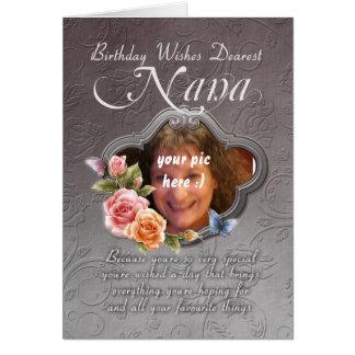 nana birthday card - birthday your photograph here