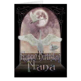 Nana Birthday Card - Swans