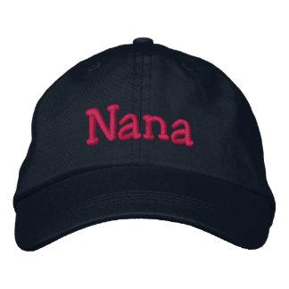 Nana bordó rosas fuertes de la marina de guerra de gorras bordadas
