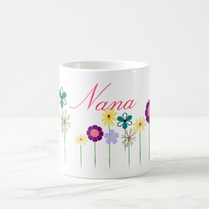 Nana - bright flowers for her coffee mug
