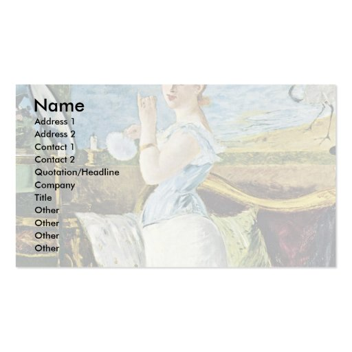Nana By Manet Edouard Double-Sided Standard Business Cards (Pack Of 100)