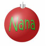 Nana Christmas Ornament Photo Sculpture