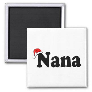 Nana Christmas Santa Hat 2 Inch Square Magnet