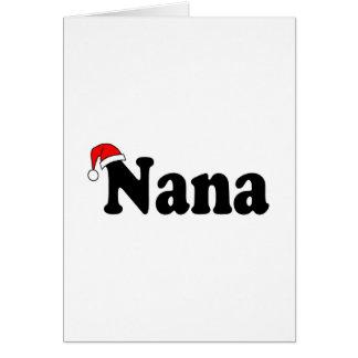 Nana Christmas Santa Hat Greeting Card