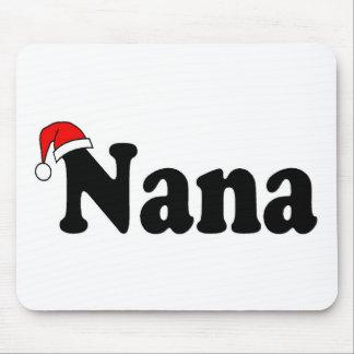 Nana Christmas Santa Hat Mouse Pads