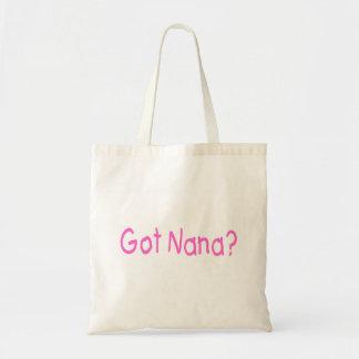Nana conseguida bolsa tela barata