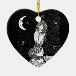 Nana del claro de luna de Hannah Adorno De Cerámica En Forma De Corazón