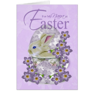 Nana Easter Card With Baby Rabbit - Just For You A