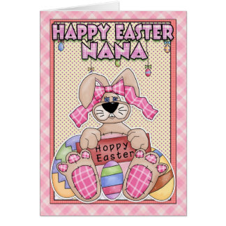 Nana Easter Card With Easter Bunny