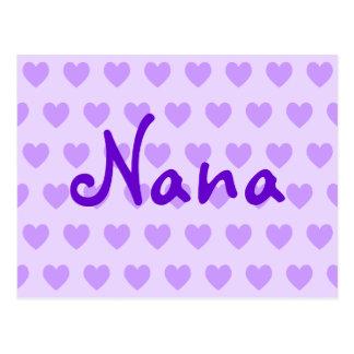 Nana en púrpura postal