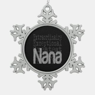 NaNa Extraordinaire Snowflake Pewter Christmas Ornament