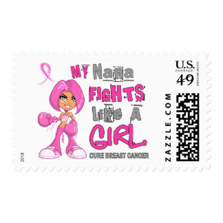 Nana Fights Like Girl Breast Cancer 42 9 png Postage Stamps
