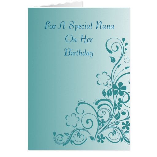 Nana Floral Birthday Card