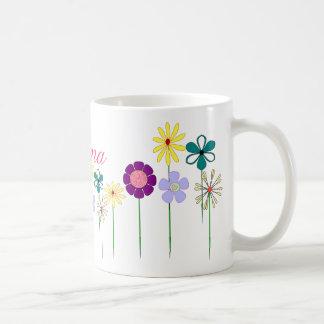 Nana - flores brillantes para ella tazas