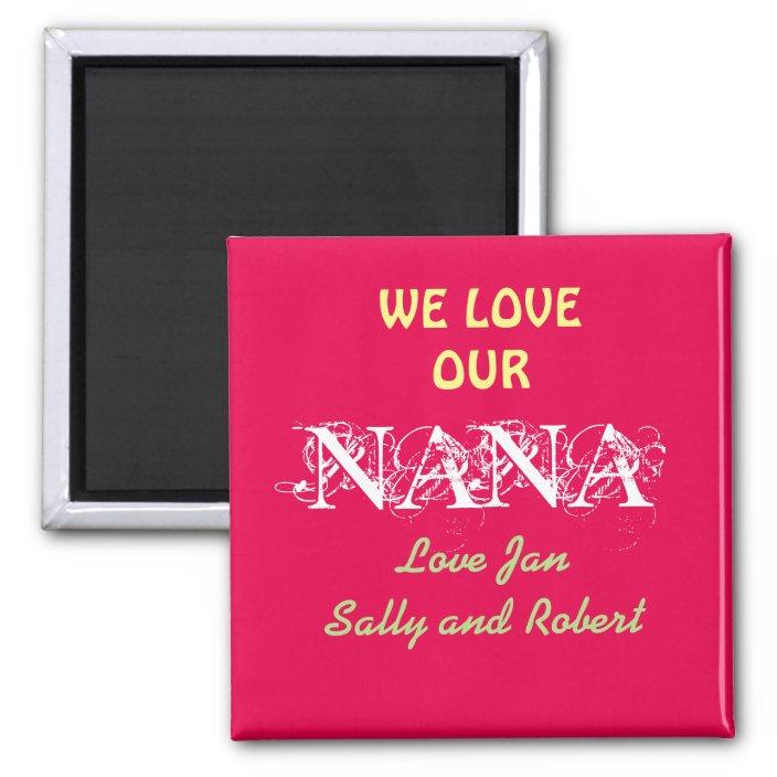 grandma gift Nana gift Mother/'s Day gift nana gift magnet nana magnet nana fridge magnet personalised fridge magnet gift for nana