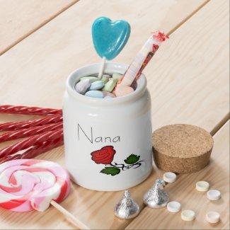 Nana Goodies Rose Candy Jar