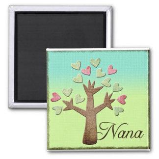 nana heart tree blue green gradient fridge magnet