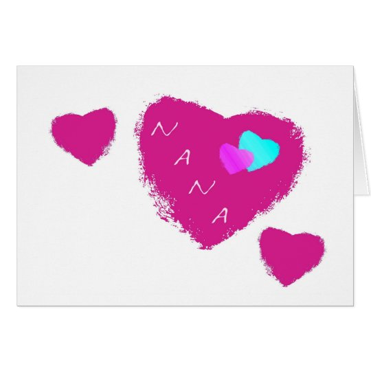 Nana Hearts Card